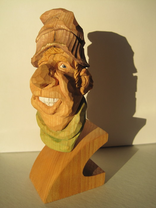 John klompmaker carving re using recycling and