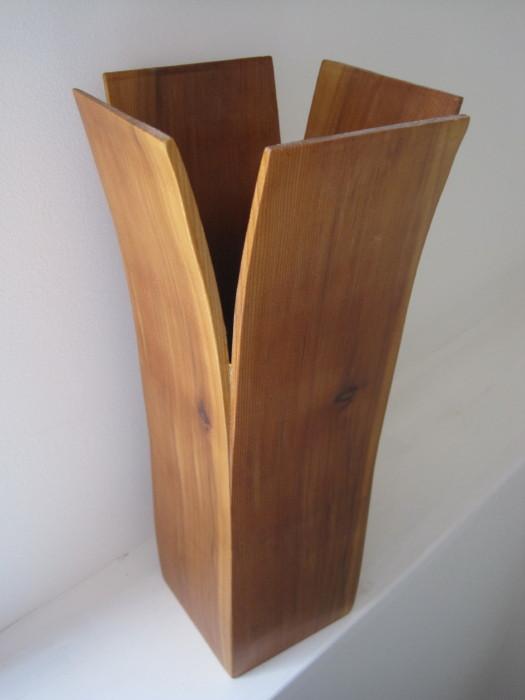 68 Other Wood Wooden Flower Vase By Rick Klompmaker Tulip Shape