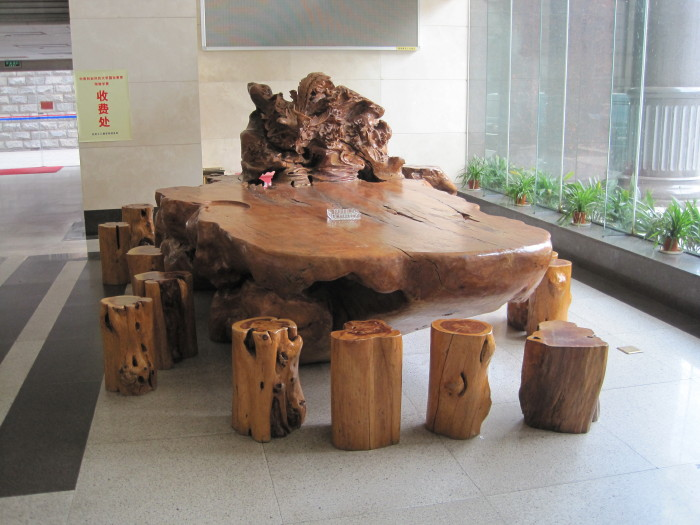 Wood carving table in changsha hunan china john